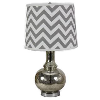 Charmante Grey Chevron Table Lamp