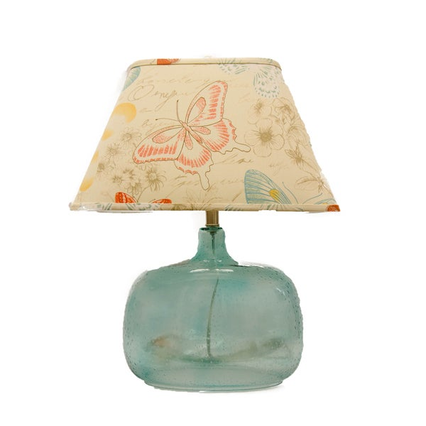 Somette Spa Glass Butterfly Shade Table Lamp