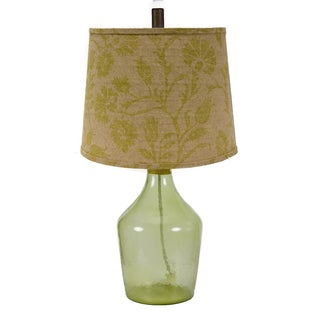 Somette Napa Green Muted Floral Shade Table Lamp