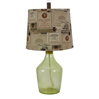 Somette Napa Wine Label Shade Table Lamp