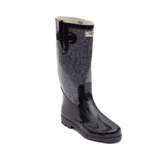 Women's Jacket Design Rubber Rain Boots