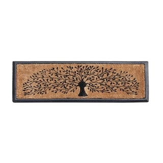 Molded Rubber Coir Tree Double Door Mat
