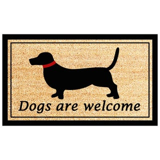 'Dogs Are Welcome' Printed Coir Doormat