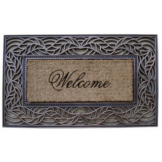 'Welcome' Rubber and Coir Decorative Doormat