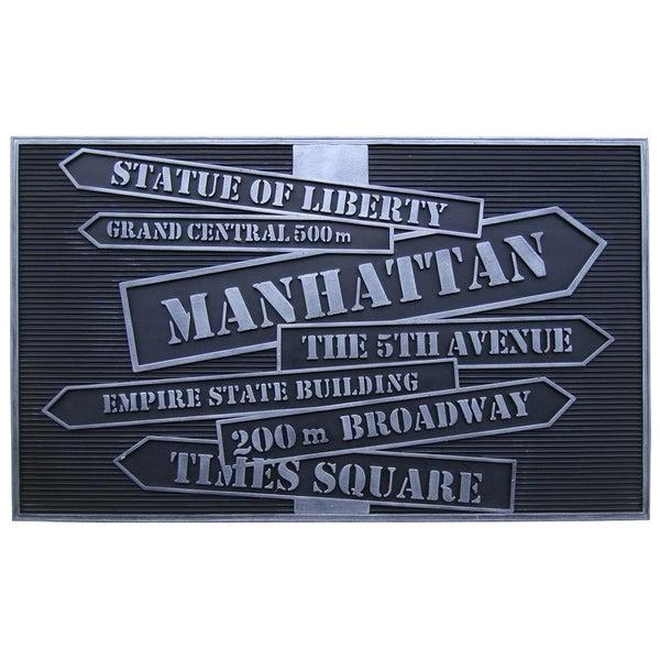 'New York' Design Rubber Doormat