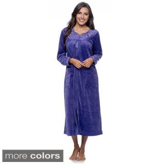 Womens robes long zippered