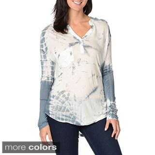 Olivaceous Women's Long Sleeve Henley Shirt