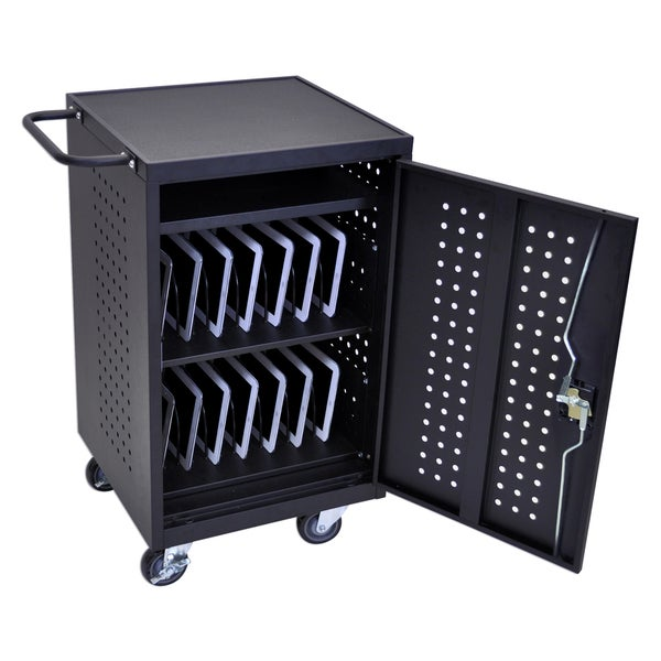 Offex LLTM30-B 30-tablet Computer Charging Cart Station