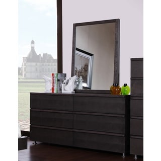 Brayden 6-Drawer Grey Dresser and Mirror Set