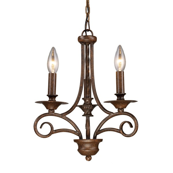 Elk Lighting Gloucester 3-light Antique Bronze Chandelier 14131758
