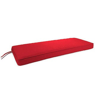 Trijaya Living Sunbrella Jockey Red 5403 Patio Furniture Bench Cushion