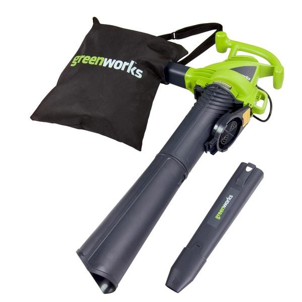 GreenWorks 24022 12-amp Corded 2-speed Blower/ Vac