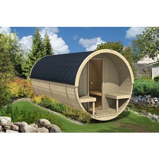 Allwood Nordic Spruce 8-person Barrel Sauna