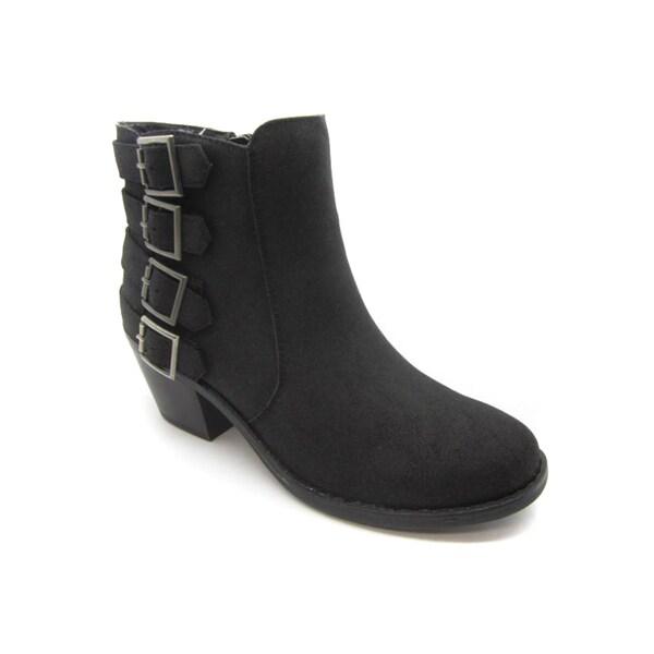 Blue Women's 4-buckle Jent Boots