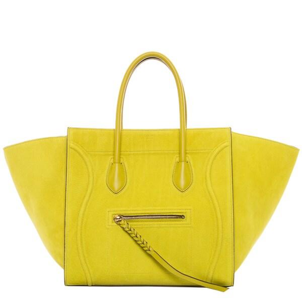 buy celine bag online usa - Celine 'Phantom' Medium Chartreuse Suede Luggage Tote - 16696336 ...