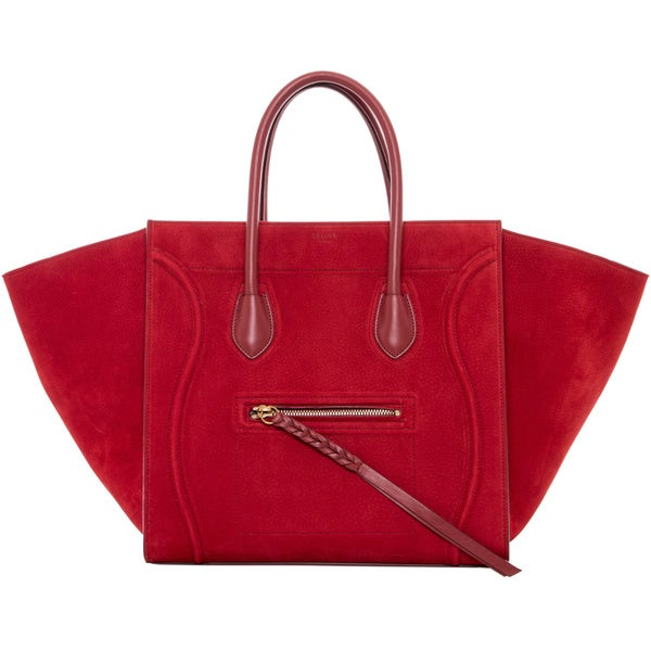 celine phantom bag look alike - Celine \u0026#39;Phantom\u0026#39; Medium Red Suede Luggage Tote - 16696339 ...