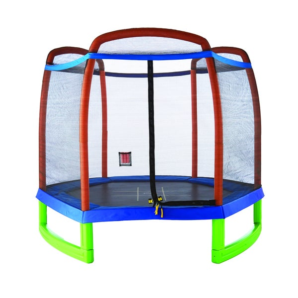 Pure Fun 7ft. Trampoline Set with Tic-Tac-Toe Surface