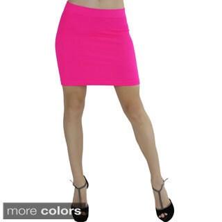 Bright Seamless Slim-fit Mini Skirt