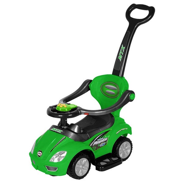Best Ride On Cars 3-in-1 Green Push Car
