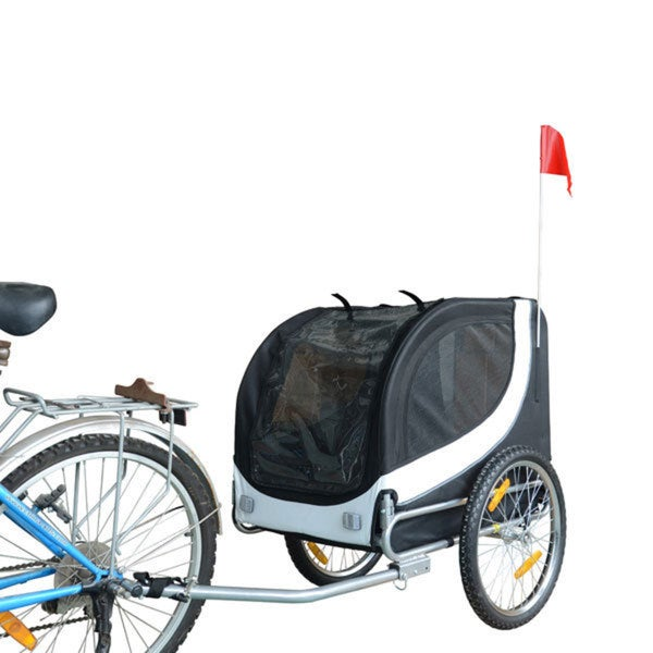 White/ Black Pet Bike Trailer