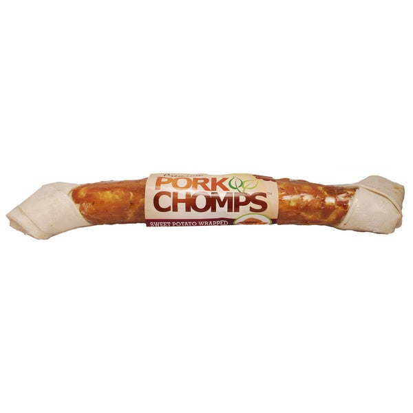 "Premium Pork Chomps 20"" Rawhide-Free Wrapped Mammoth Bone"