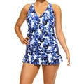 Women's Maui Flower Blue Swimdress