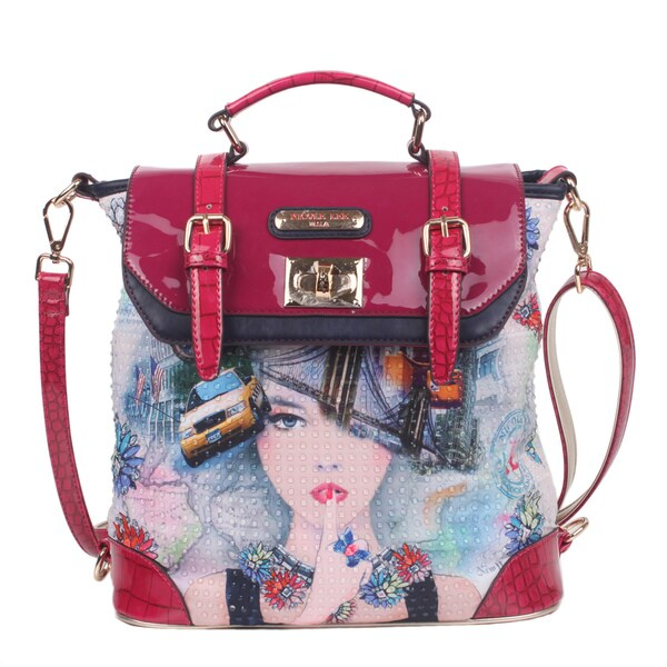 Nicole Lee New York New York Print Backpack