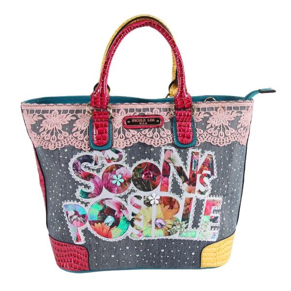 Nicole Lee As Soon As Possible Print Shopper Bag