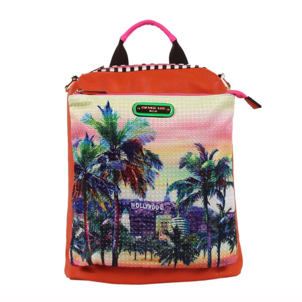 Nicole Lee Hollywood Hologram Print Multi-function Backpack