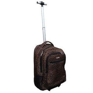 Jourdan Leopard Rolling Carry-on Laptop Backpack