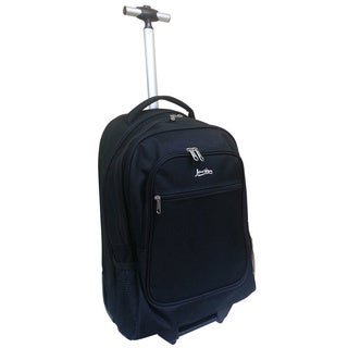 Jourdan Black 1200D Rolling Carry-on Laptop Backpack