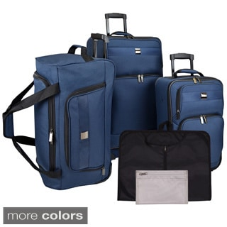 U.S. Traveler 5-piece Complete Rolling Luggage Set