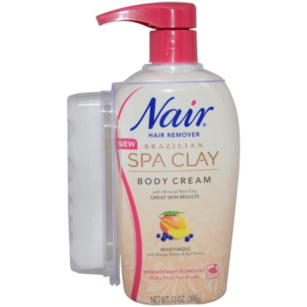 Nair Brazilian Spa Clay 13-ounce Body Cream