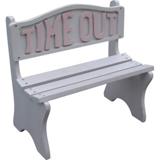 Time Out White Frame With Pink Lettering Bench