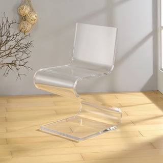 Pure Decor Clear Acrylic Acrylic Z Style Chair Overstock