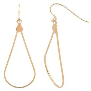 Fremada 14k Yellow Gold Polished Teardrop Wire Earrings