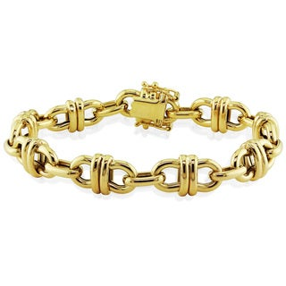 Miadora Signature Collection 14k Yellow Gold Fancy Link Bracelet