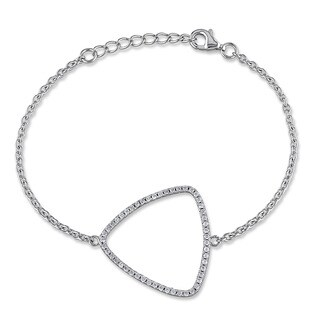 M by Miadora Sterling Silver Cubic Zirconia Chain Bracelet