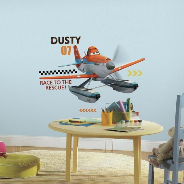 Planes Fire & Rescue Dusty Peel and Stick Giant Wall Decals