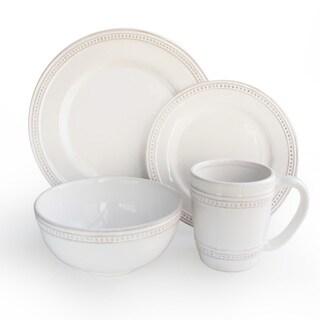 American Atelier Bianca Dots 16-piece Dinnerware Set