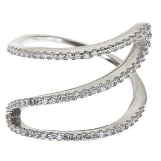 Gioelli Sterling Silver Contemporary Abstract Ribbon Ring