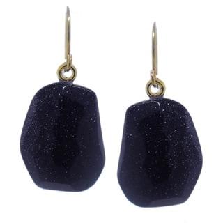 Gioelli Sterling Silver Faceted Tumble Shape Stone Dangle Earrings