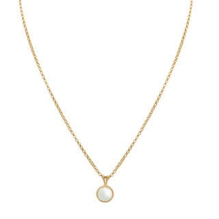 14k Gold 6mm Twisted Pearl Pendant Necklace