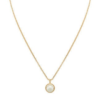 Gioelli 14k Gold 7.5mm Twisted Pearl Pendant Necklace