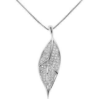Gioelli Sterling Silver Leaf Pendant Necklace
