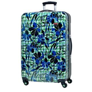 Izod Enterprise Blooming Picnic 24-Inch Medium Expandable Hardside Spinner Upright Suitcase