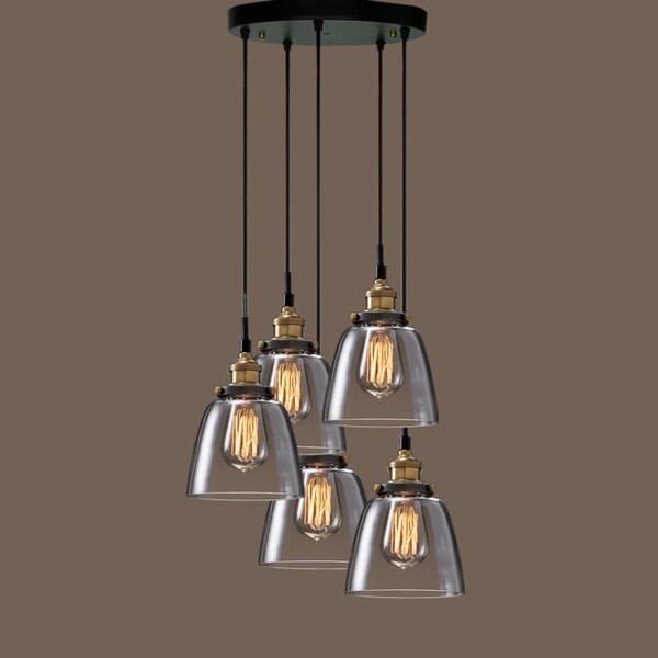 Sunnyholt Lighting Warehouse Home: Euna 5-light Adjustable Cord Edison Lamp With Bulbs