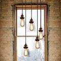 Euna 5-light Adjustable Cord Edison Lamp with Bulbs