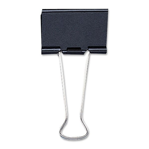 Sparco Black Binder Clips (1 Pack of 12 clips)