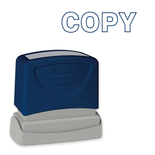 Sparco Blue Title Stamp